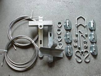 GB Antenne schoorsteen montage set voor mast
